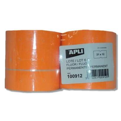 pack-6-rollos-de-etiquetas-naranja-fluorescentes-en-rollo-apli-100912compatibles-con-maquina-etiquetadora-1014181000-etiquetas-p