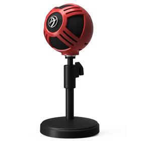 arozzi-sfera-microfono-de-superficie-para-mesa-negro-rojo