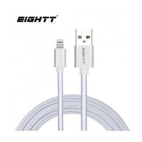 eightt-cable-usb-a-lightningiphone-1m-trenzado-nylon-plata