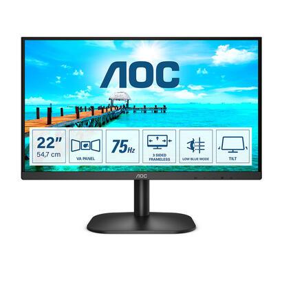 monitor-aoc-215-22b2da-va-fhd-1920x1080-16-9-200nits-75hz-3000-1-4ms-hdmi14-vga-dvi-negro