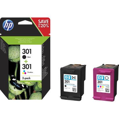 tinta-original-hp-n-301-cololr-y-black-n9j72ae-pack-2-unidades-para-hp-deskjet-1000-printer-series