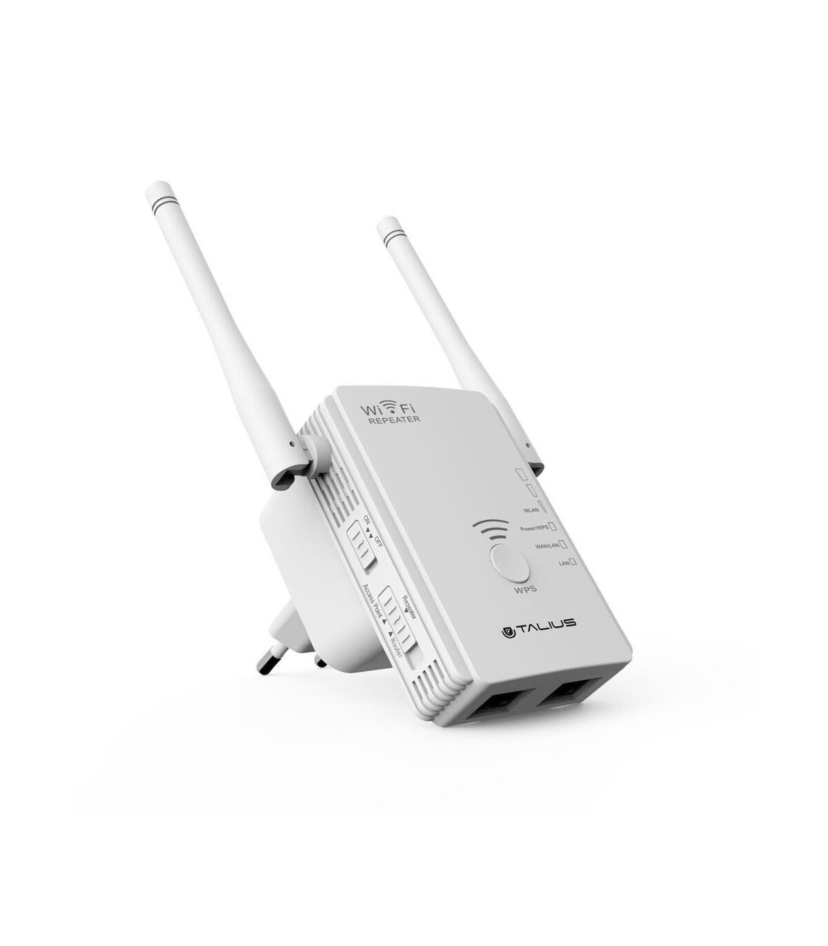X TALIUS Router//repetidor//Ap 300Mb 2 Antenas REP-3002-ANT Network Repeater, 300 Mbit//s, 10,100 Mbit//s, 10//100Base-T 802.11n 802.11b,802.11g,Wi-Fi 4 Repetidor de Red , 300 Mbit//s