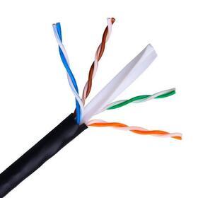 bobina-de-cable-aisens-a135-0264-para-uso-exterior-rj45-cat6-utp-awg24-rigido-305m-negro