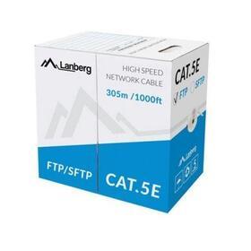 lanberg-bobina-de-cable-apantallado-lcf5-10cu-0305-s-rj45-cat5e-ftp-awg24-305m-gris