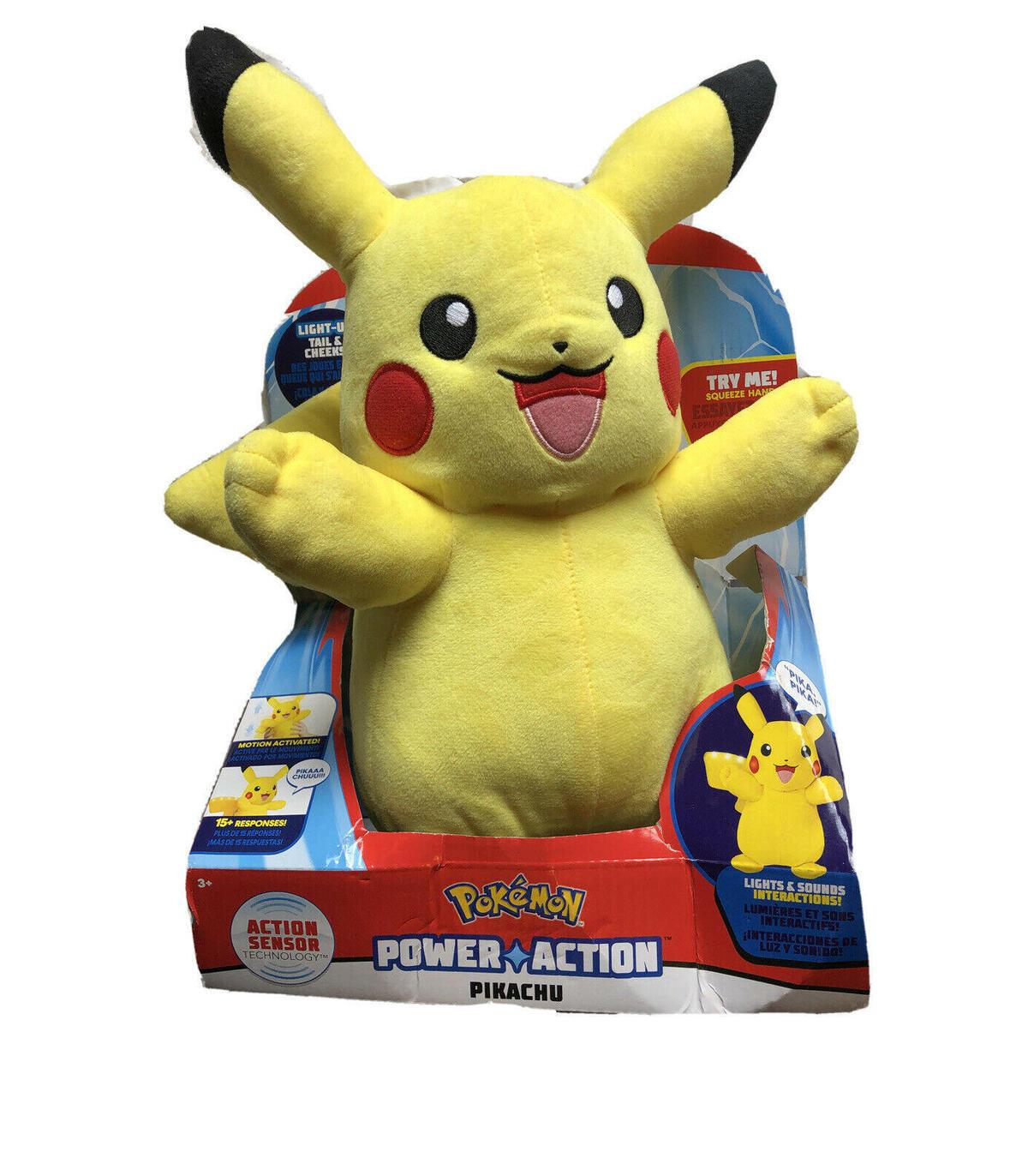 96383 Pokemon Pikachu Suave Felpa Acción De Acción Power hablando juguetes de edad Sensor 3yr+
