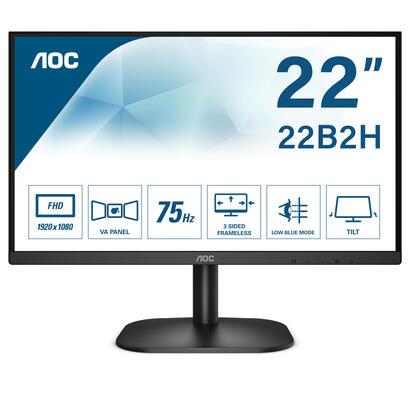 monitor-aoc-215-22b2heu-19201080-full-hd-169-200cdm2-20m1-65ms-hdmi-vga-flickerfree