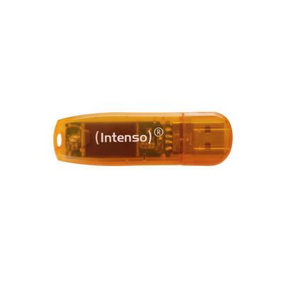 intenso-pendrive-64gb-usb20-rainbow-naranja